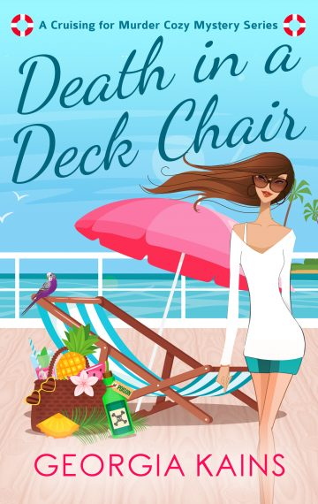 cover of Death in a Deck Chair cozy murder mystery by Georgia Kains